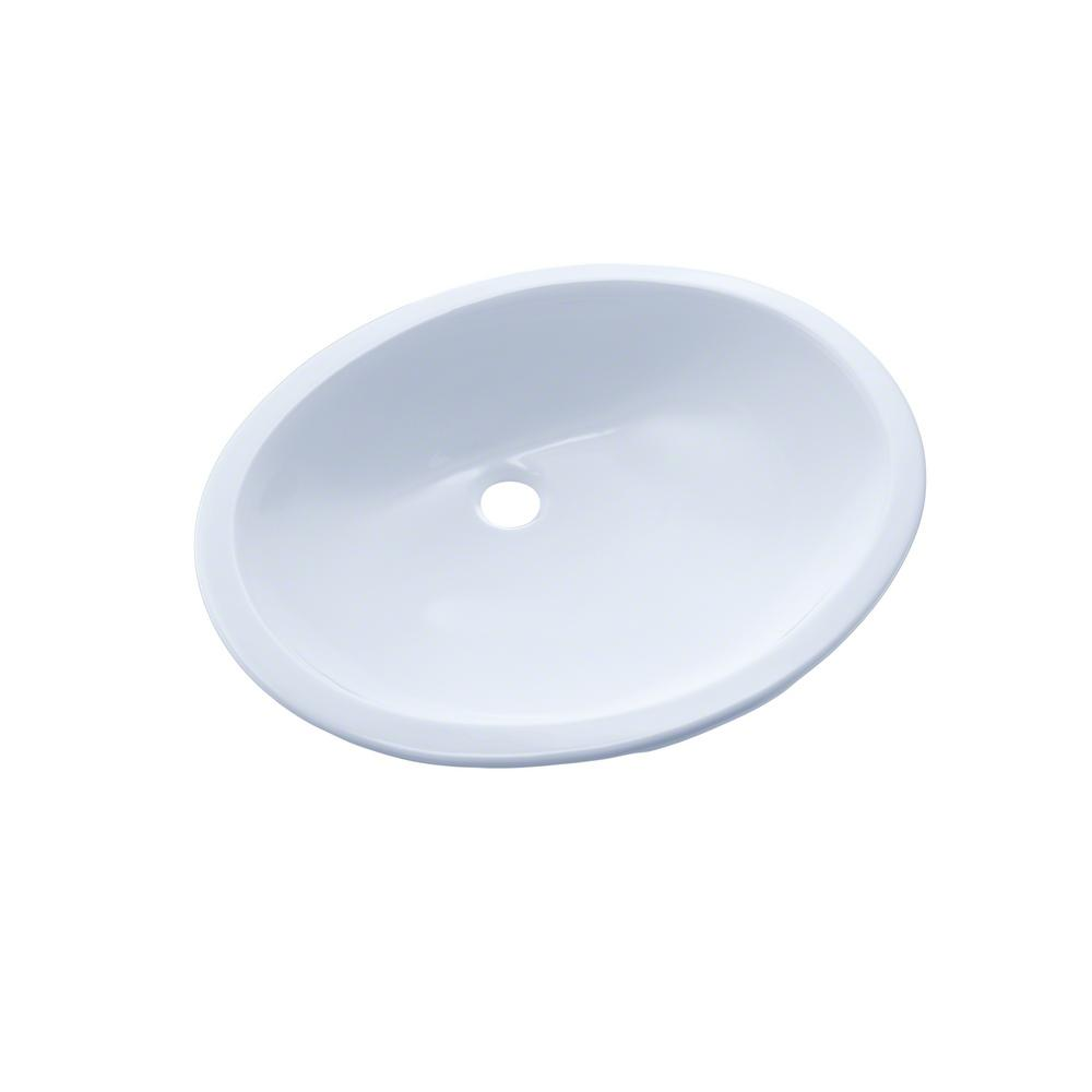 Toto Rendezvous 17 In Undermount Bathroom Sink With Cefiontect In Cotton White Lt579g 01 The