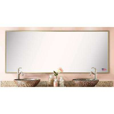 72.625 in. x 33.625 in. Tango Polished Gold Double Vanity Mirror