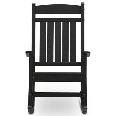 Classic Rocker Black Plastic Outdoor Rocking Chair