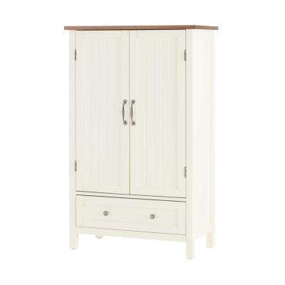 Bainport Ivory Wood Kitchen Pantry with Haze Top (28 in. W x 45 in. H)