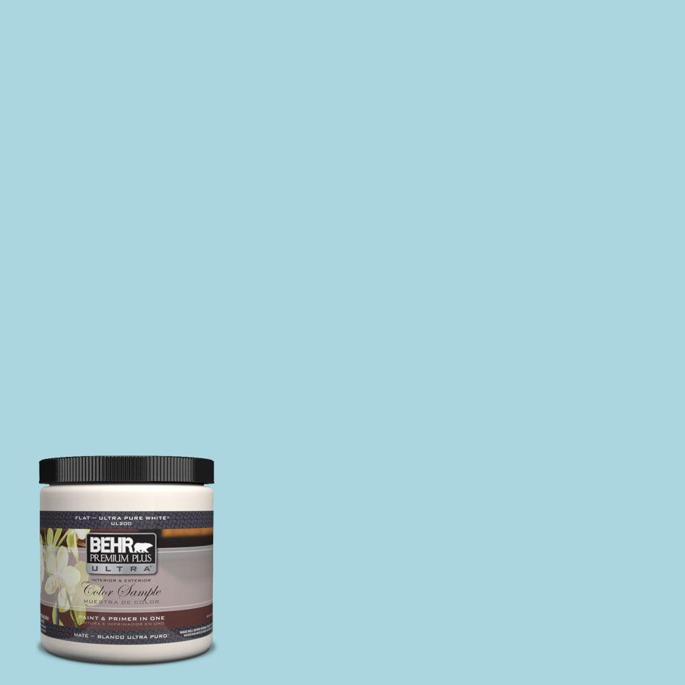 8 oz. #520C-3 Rapture Blue Matte Interior/Exterior Paint and Primer in