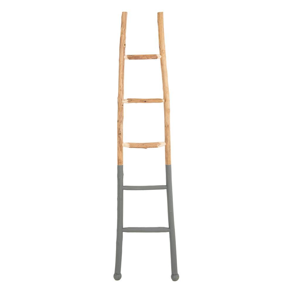Dark Grey Decorative Wood Ladder