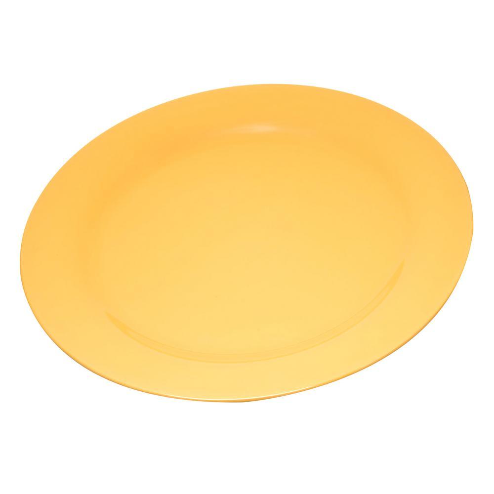 Carlisle Durus 9 in. Honey Yellow Melamine Narrow Rim Dinner Plate