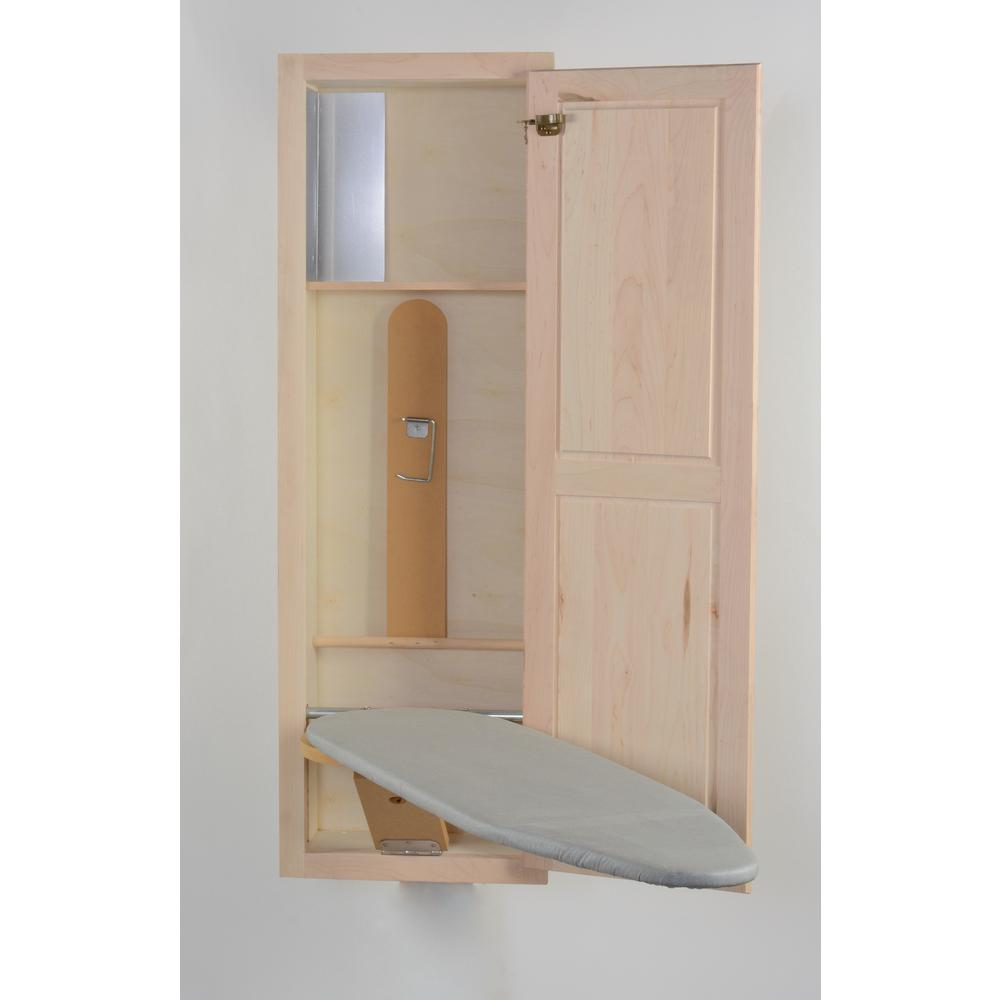 In-Wall Ironing Board with Maple Door
