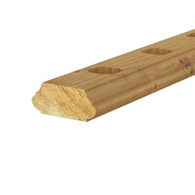2 in. x 4 in. x 6 ft. Pressure-Treated Pine Routed Rail