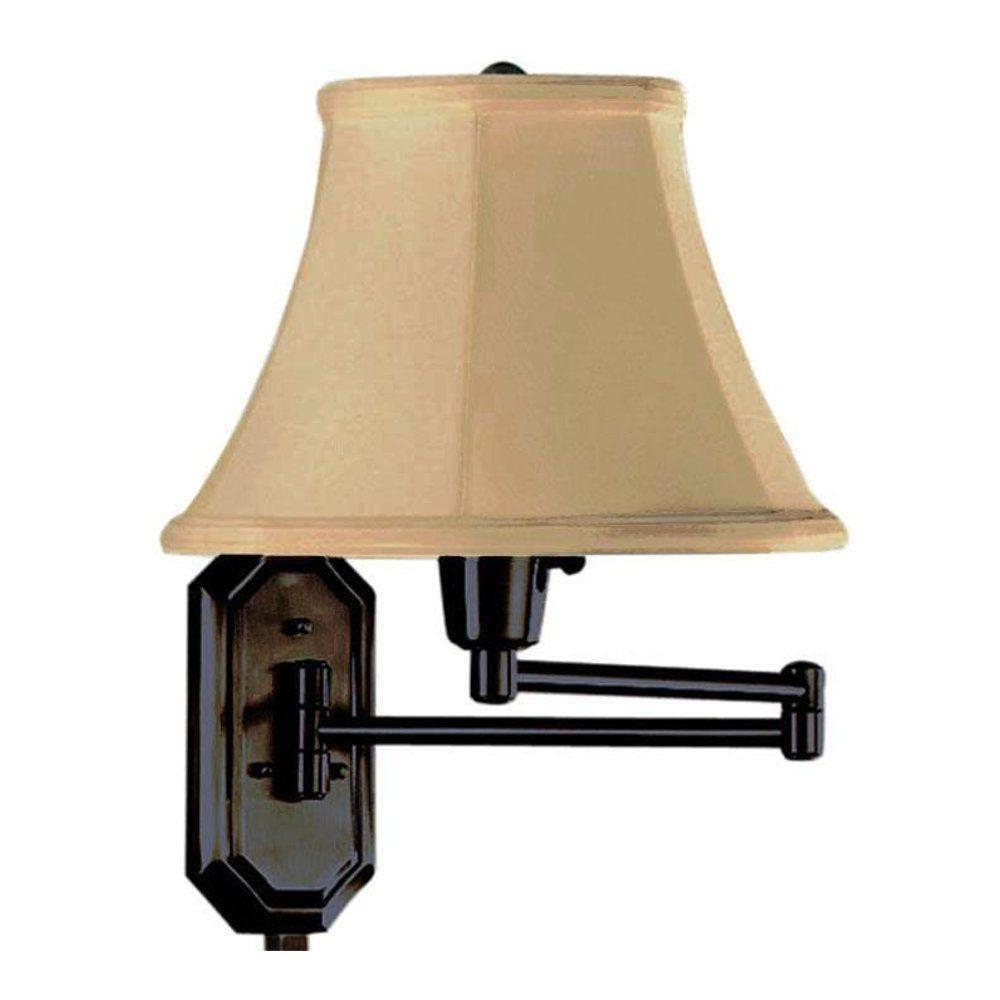 1-Light Oil-Rubbed Bronze Swing-Arm Lamp