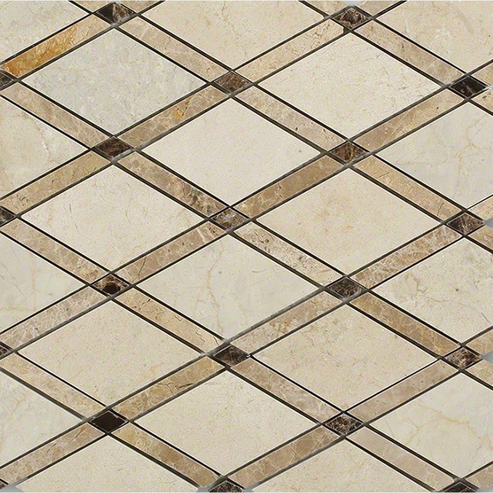 Grand Crema Marfil Polished Marble Tile - 3 in. x 6