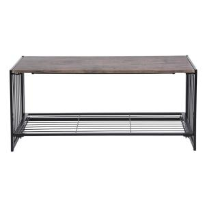 Deals on FurnitureR Line Zen 18 in. Walnut Wooden Folding Coffee Table