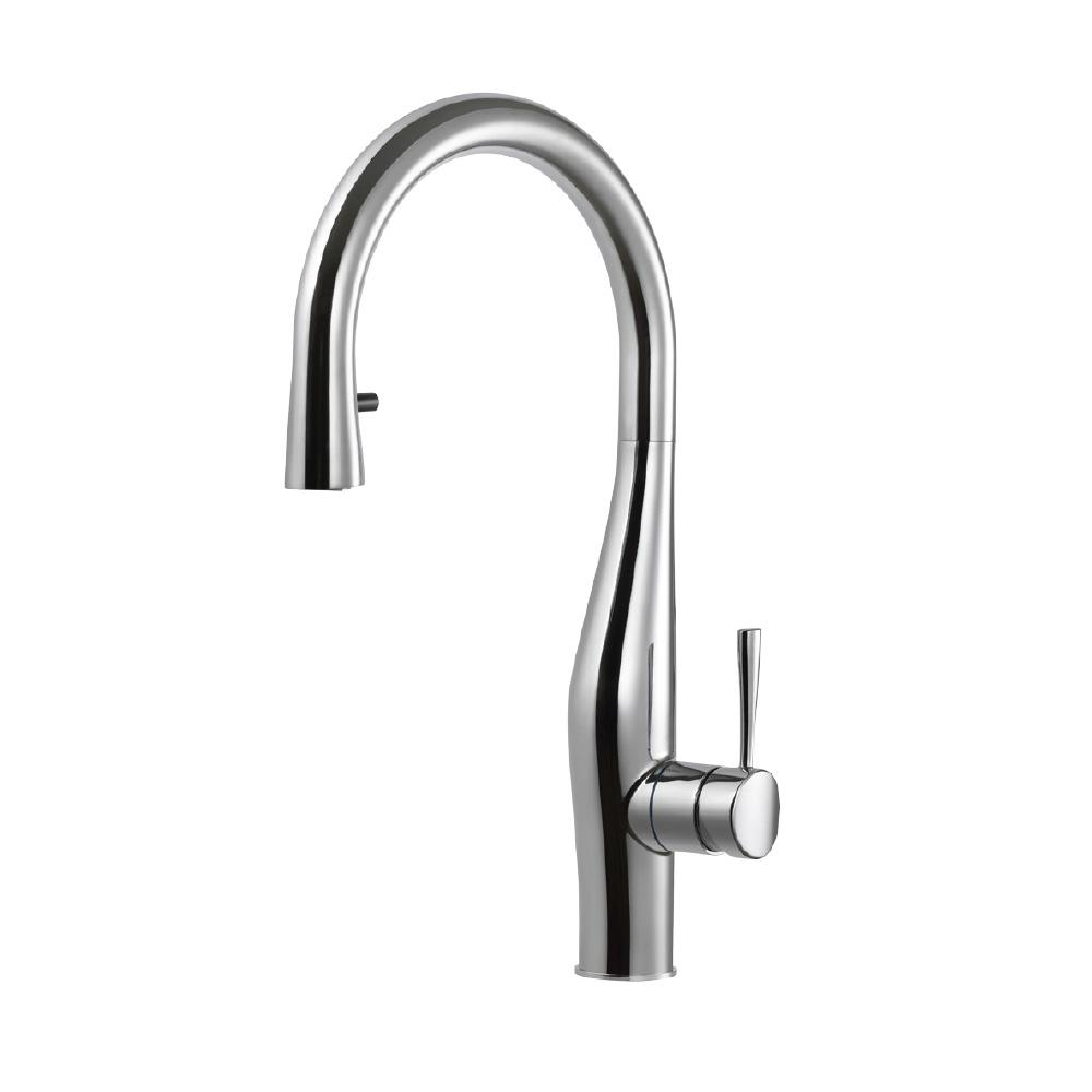 HOUZER Vision Single-Handle Pull Down Sprayer Kitchen Faucet with ...