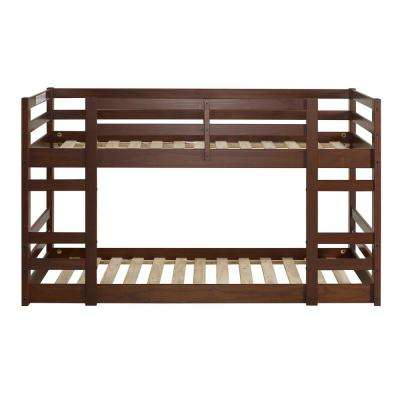 Low Wood Walnut Twin Bunk Bed