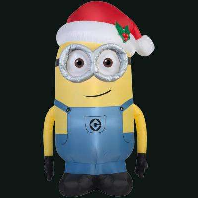 36.22 in. L x 27.56 in. W x 59.84 in. H Inflatable Minion Dave