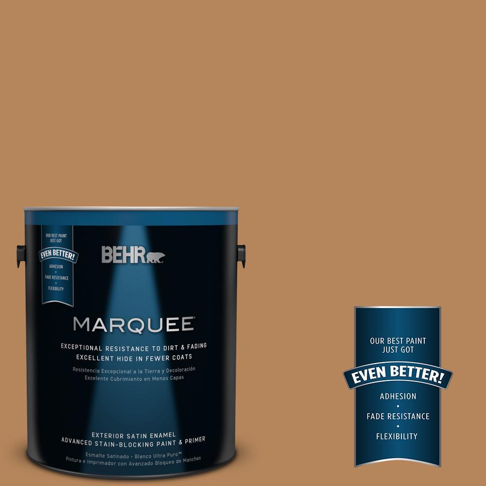 BEHR MARQUEE 1-gal. #S270-6 Almond Brittle Satin Enamel Exterior Paint