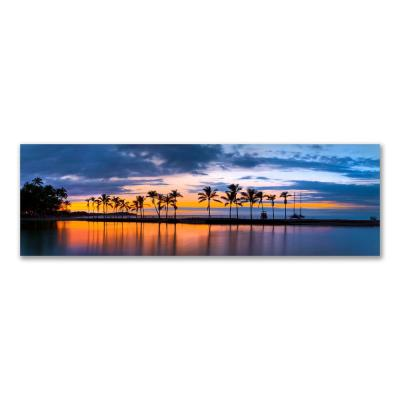 """""""Kona Twilight"""" by Christopher Knight Collection Canvas Wall Art 18 in. x 58 in."""