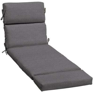 Sunbrella Cast Slate Outdoor Chaise Lounge Cushion