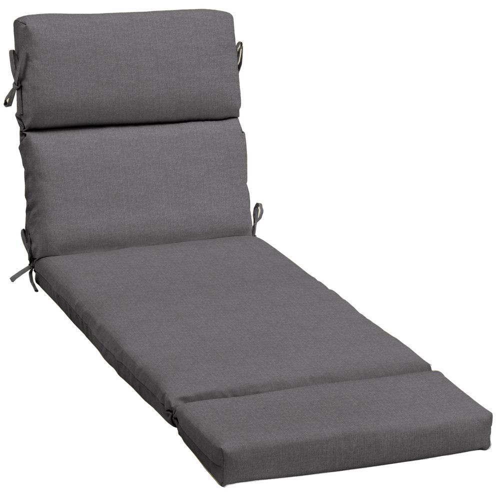23 x 73 Sunbrella Cast Slate Outdoor Chaise Lounge Cushion