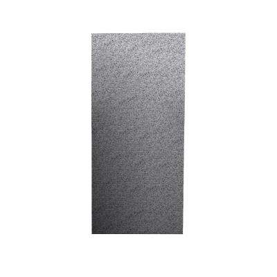 Geometric 1/4 in. x 36 in. x 96 in. One Piece Easy Up Adhesive Shower Wall in Gray Granite