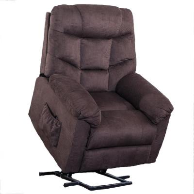 Dark Brown Power Lift Upholsterey Recliner Chair with Remote Control