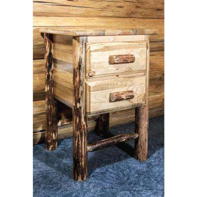 Glacier Country Collection 2-Drawer Stained and Lacquered Nightstand