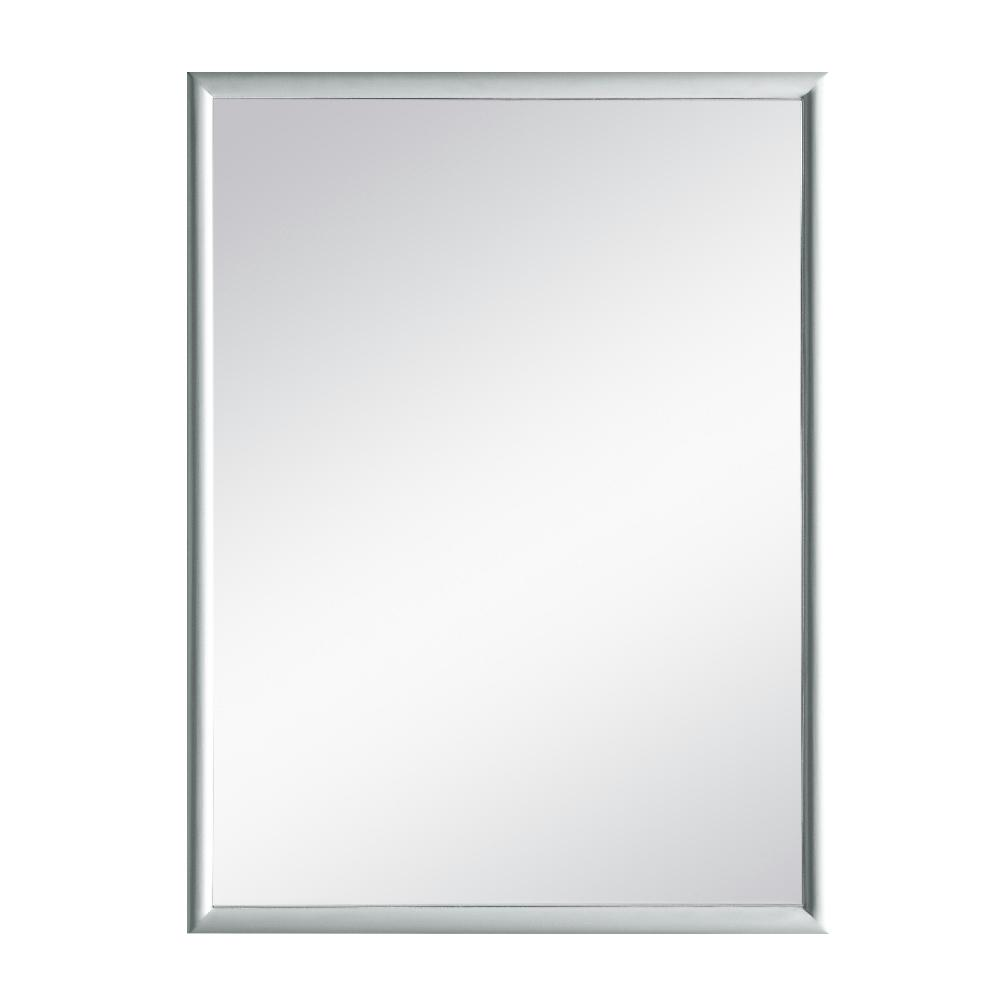 Home Decorators Collection Melpark 24 in. x 32 in. Framed Wall Mirror in Dove Grey