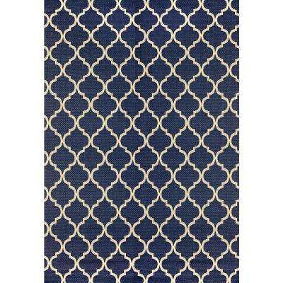 Trellis 8 X 10 Blue Outdoor Rugs Rugs The Home Depot