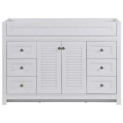 Bayridge 48 in. W x 22 in. D Bath Vanity Cabinet Only in White