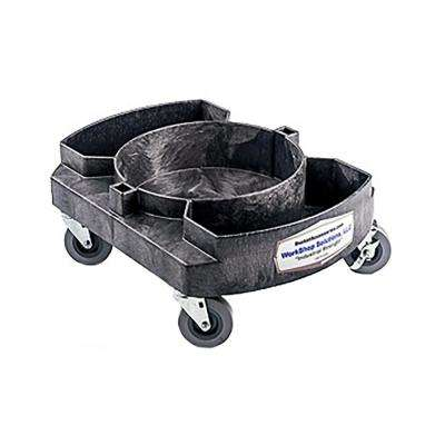 Contractors Single 5 Gal. Bucket Dolly with Premium 3 in. Casters. Fits up to 10- 3/8 in I.D. 175 lbs. Cap