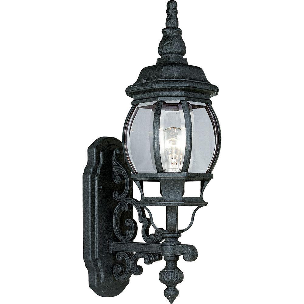 Progress Lighting Onion Lantern Collection Textured Black 1-Light Wall Lantern