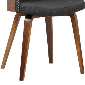 Phenomenal Armen Living Alpine 31 In Charcoal Fabric And Walnut Wood Short Links Chair Design For Home Short Linksinfo