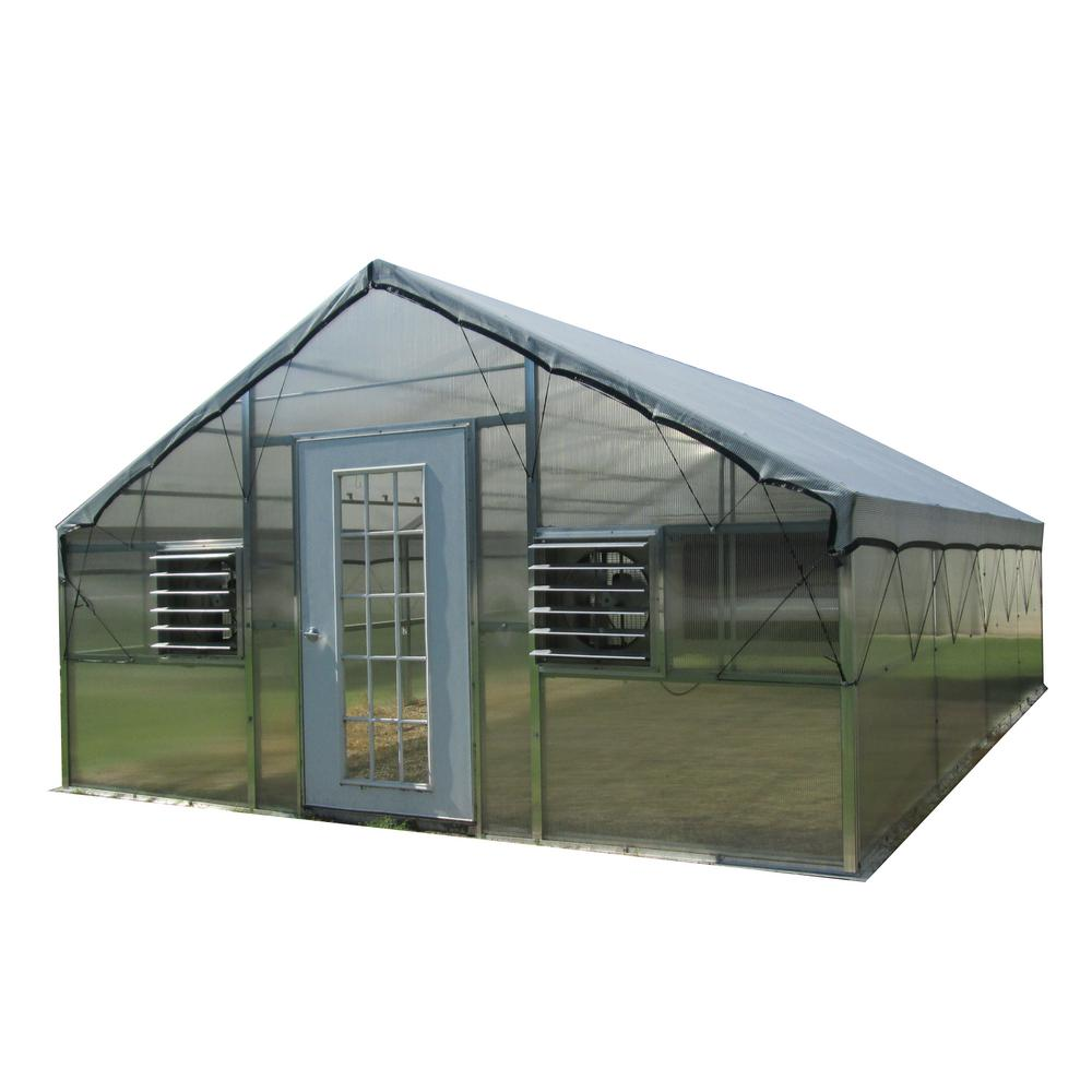 Monticello Jefferson Grower's Edition 16 ft. W x 24 ft. D x 9.5 ft. H Educational Greenhouse Kit with 6 ft. H Walls