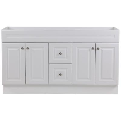 Glensford 60 in. W x 22 in. D Vanity Cabinet Only in White