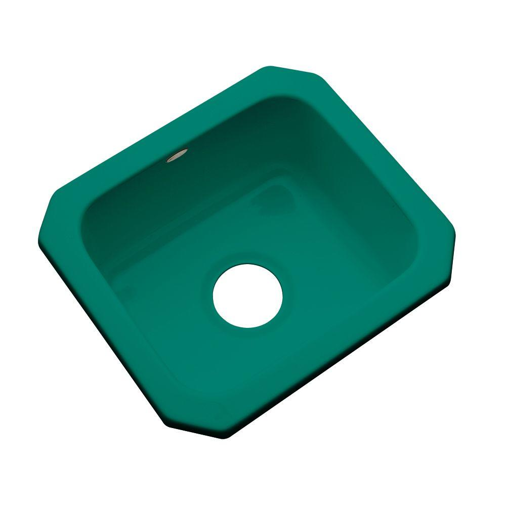 Thermocast Manchester Undermount Acrylic 16 in. 0-Hole Single Bowl ...