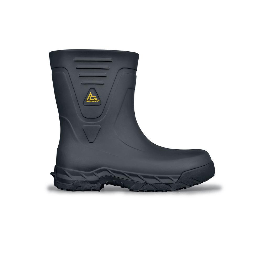 Bullfrog Pro II CT Unisex Size 4M Black EVA Slip-Resistant Composite Toe Work Boot