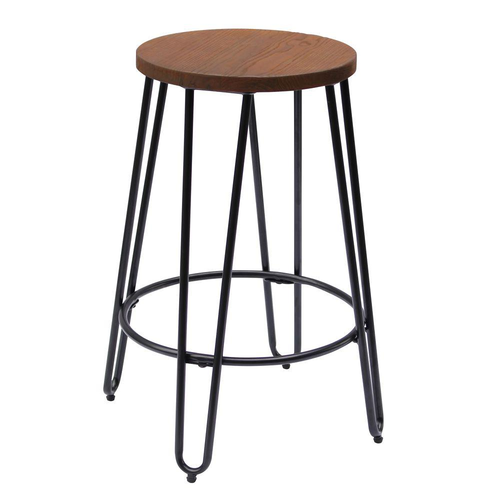 Ace Casual Furniture 23 82 In Matte Black Bar Stool