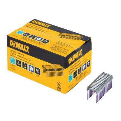1 in. Insulated Electrical Staples (540 per Box)