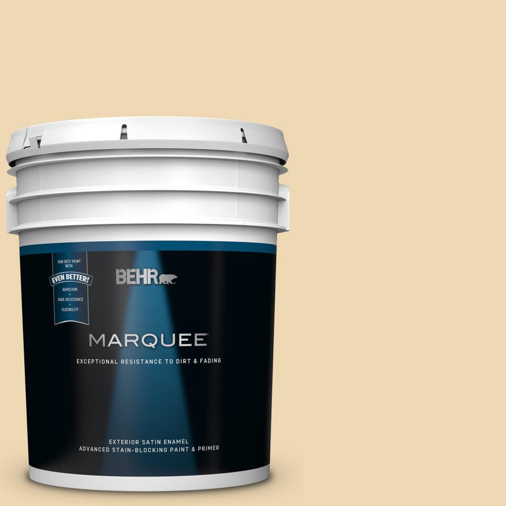 Behr Marquee 5 Gal 340e 3 Bavarian Cream Satin Enamel Exterior Paint And Primer In One 945005 The Home Depot