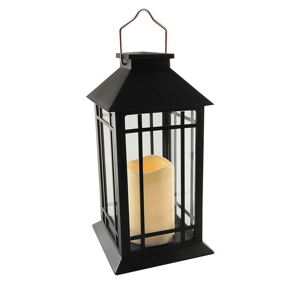 5 In X 11 Solar Black Design Lantern
