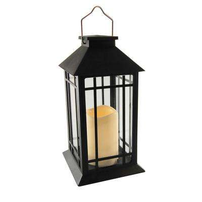5.5 in. x 11 in. Solar Black Design Lantern