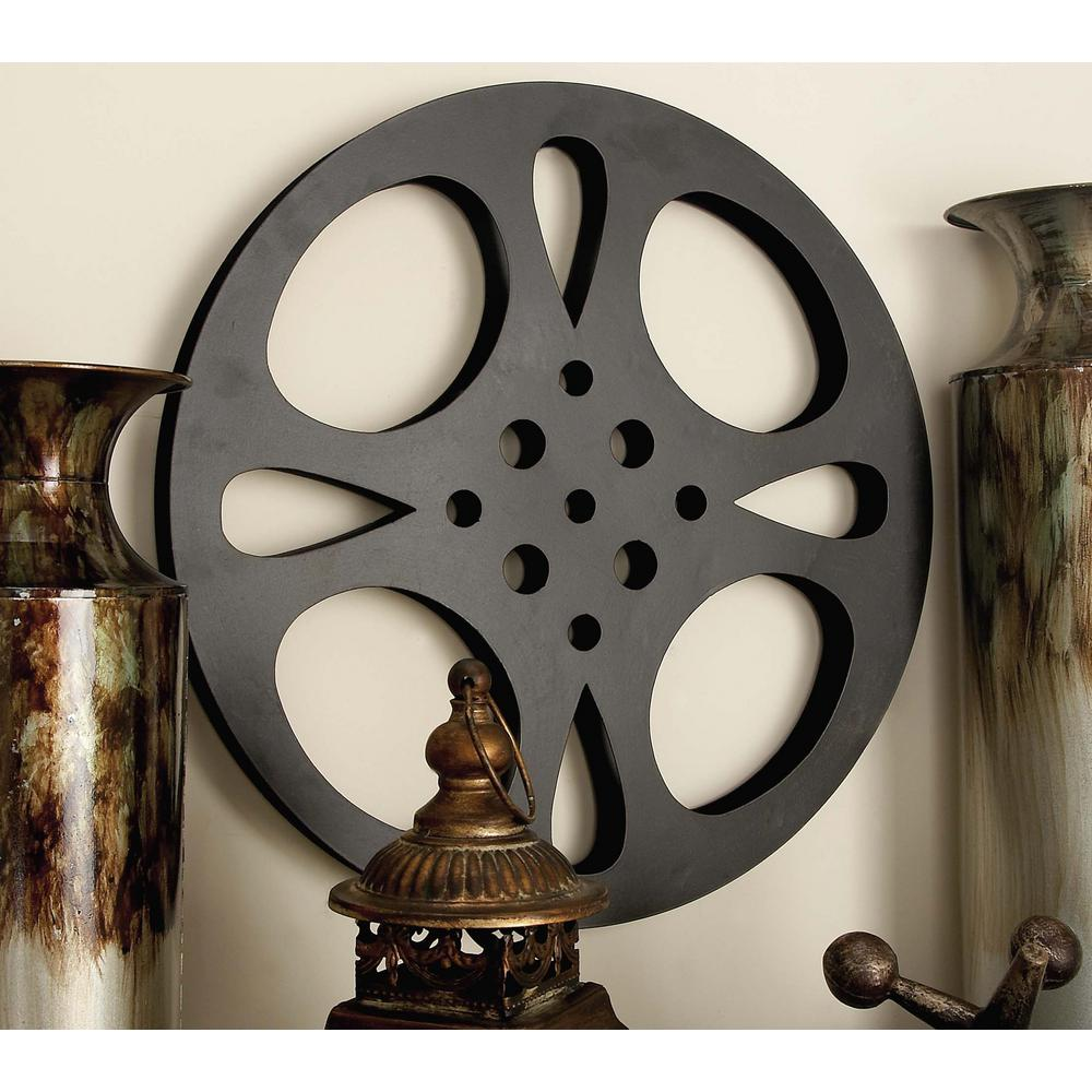 Inspired Gray Iron Movie Reel Wall Decor