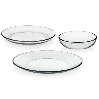 Coupe 12-piece Glass Dinnerware Set