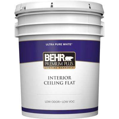 5 gal. White Flat Ceiling Interior Paint