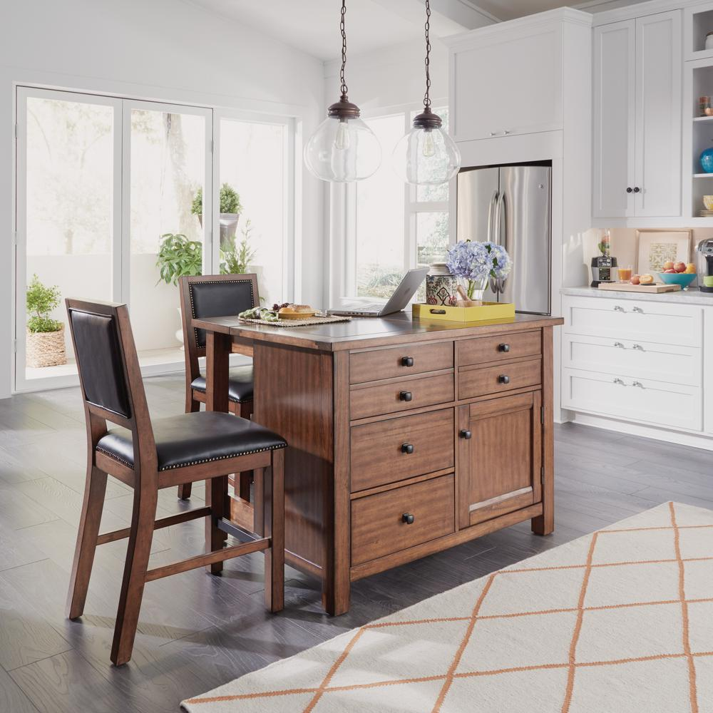 home styles tahoe aged maple kitchen island with granite top and bar stools home styles tahoe aged maple kitchen island with granite top and      rh   homedepot com