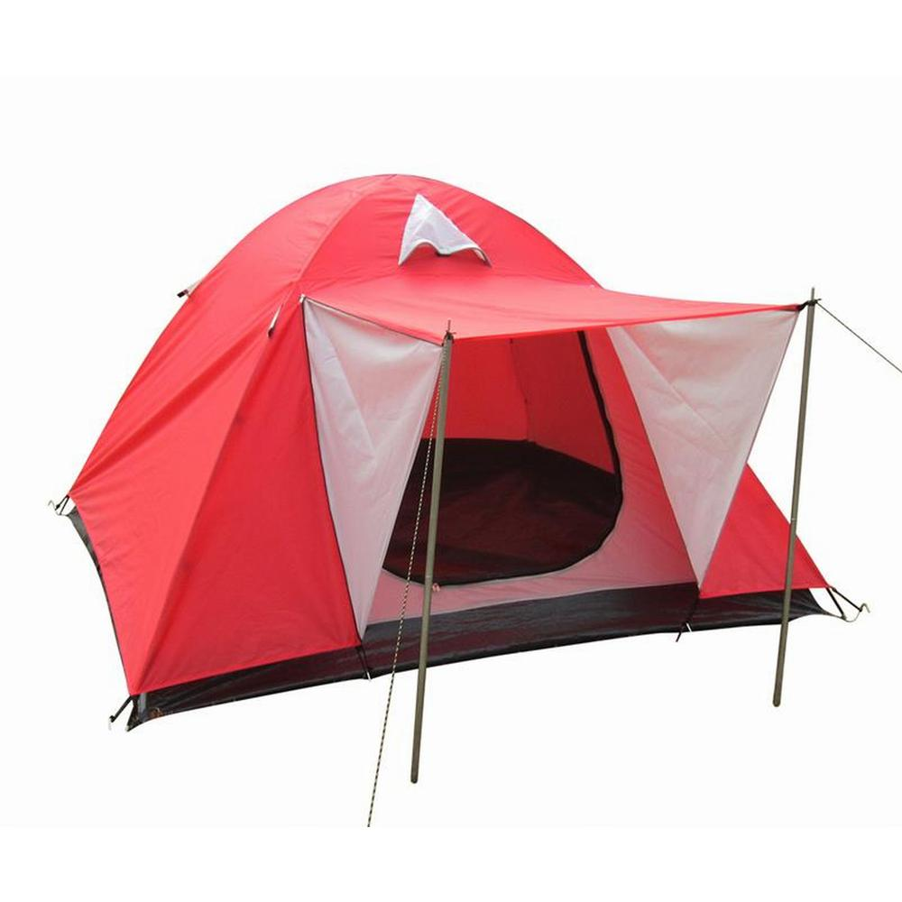 3-Person Dome Tent with Door Canopy in Red  sc 1 st  Home Depot : tents 3 person - afamca.org