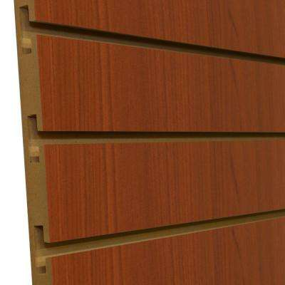 3/4 in. x 4 ft. x 8 ft. 3 in. OC Cherry Melamine Slatwall Wall Rack (5-Pack)