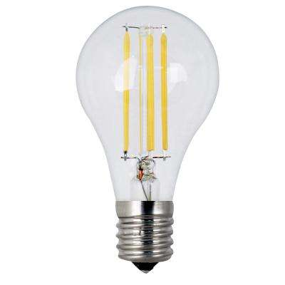 60W Equivalent Soft White A15 Dimmable Clear Filament LED Intermediate Base Light Bulb (Case of 24)