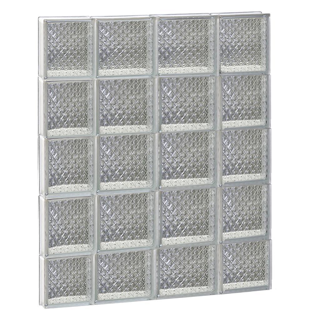 27 in. x 36.75 in. x 3.125 in. Frameless Diamond Pattern Non-Vented Glass Block Window
