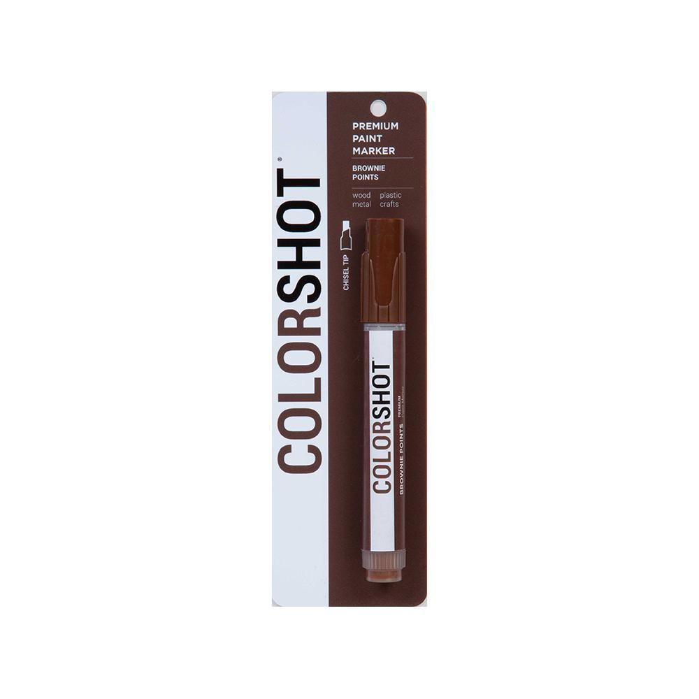 COLORSHOT Brownie Points Dark Brown Acrylic Craft Paint Pen
