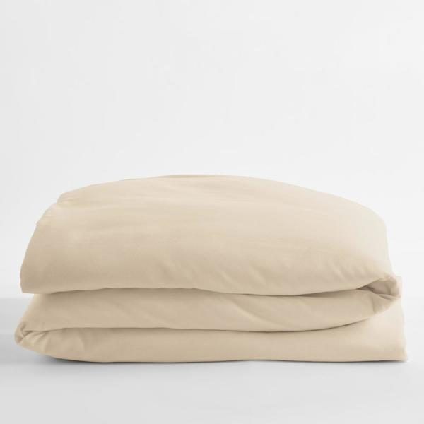 Legacy Velvet Flannel Alabaster Solid King Duvet Cover