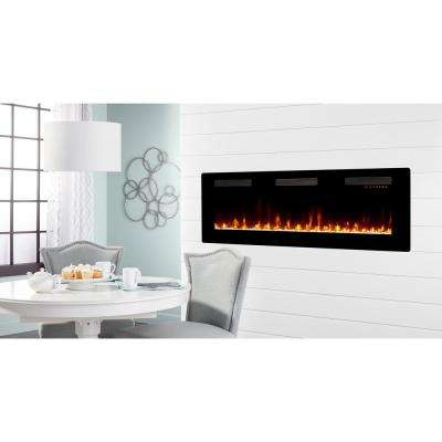 Sierra 60 in. Wall/Built-in Linear Electric Fireplace in Black