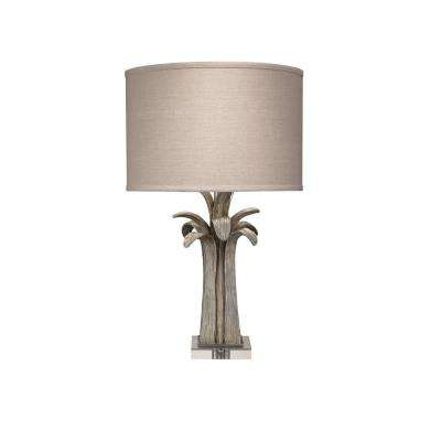 25.5 in. Sliver Bayou Table Lamp with shade