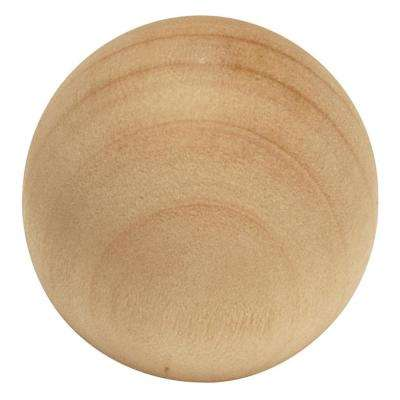 Natural Woodcraft Collection 1-1/4 in. Dia Unfinished Wood Finish Cabinet Knob (2-Pack)